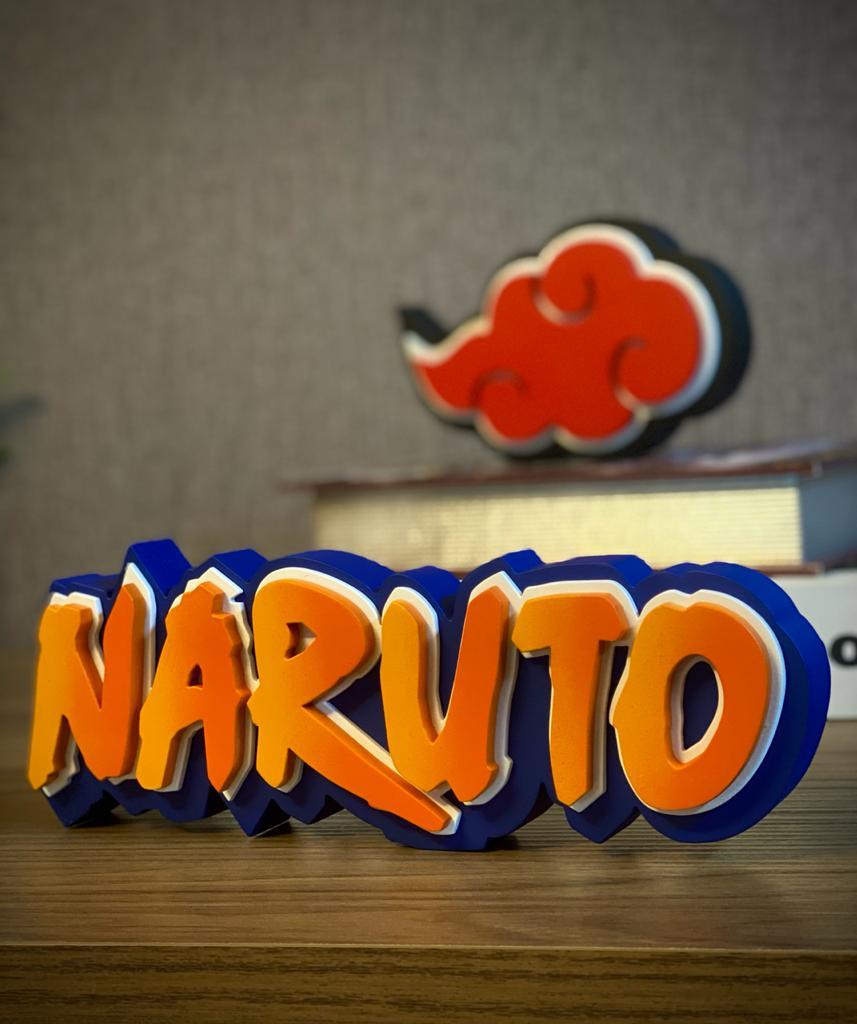 Logo 3D Letreiro Naruto: Naruto Shippuden