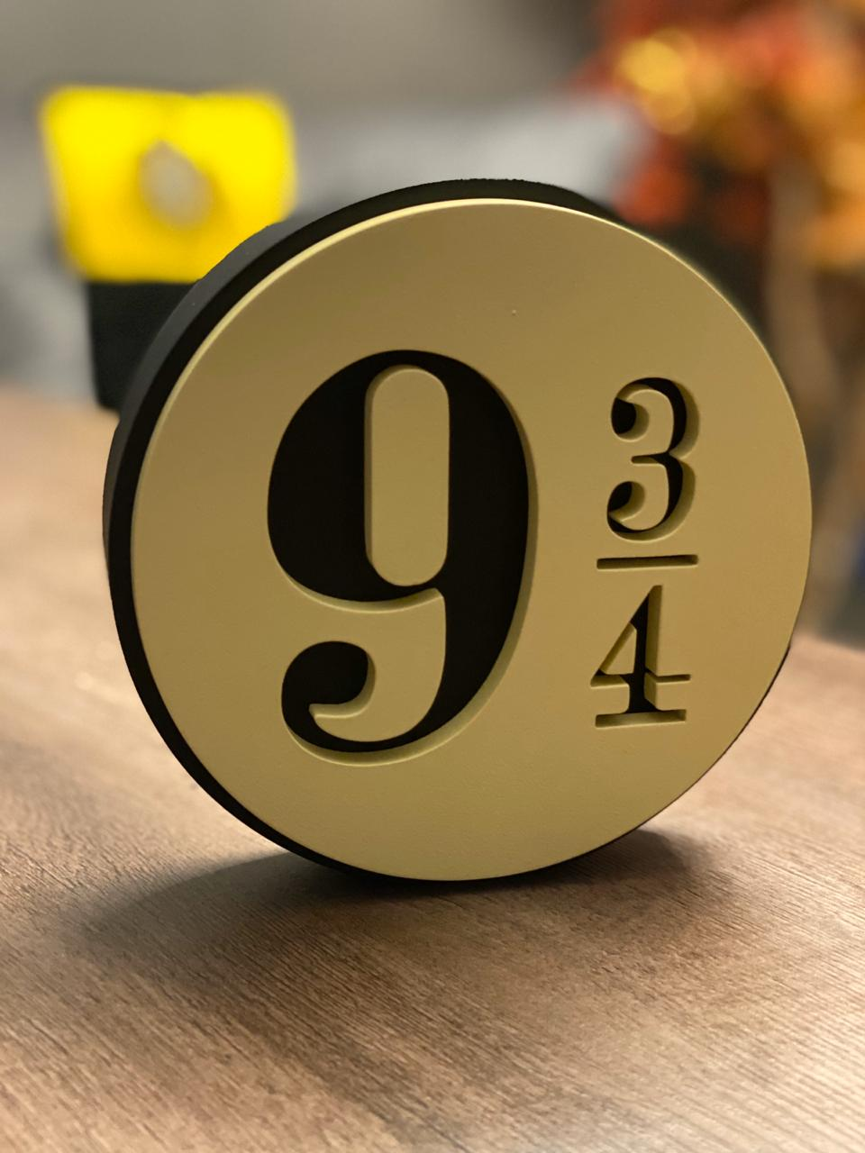 Logo 3D: Plataforma 9 3/4 HOGWARTS EXPRESS - Harry Potter