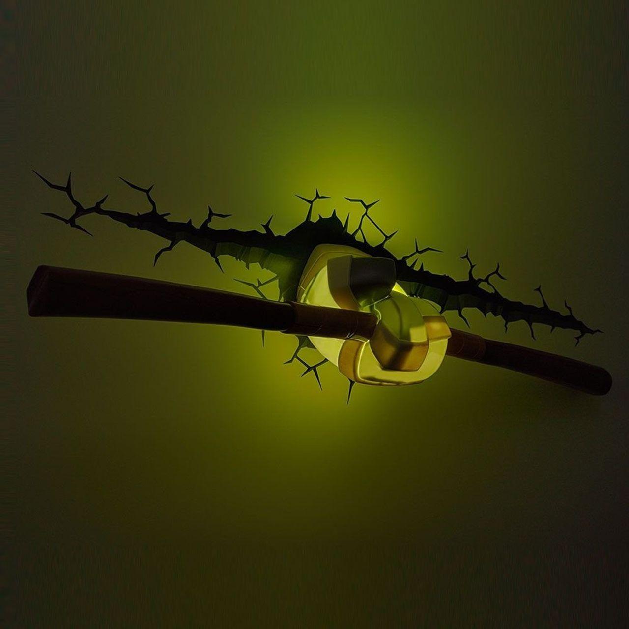 Luminária 3D Arma Donatello: As Tartarugas Ninja (Teenage Mutant Ninja Turtles) Light FX - CD