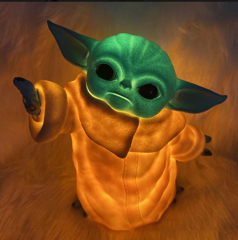 Luminária 3D Home Ornamento Geek Grogu Baby Yoda: O Mandaloriano The Mandalorian Star Wars - EV