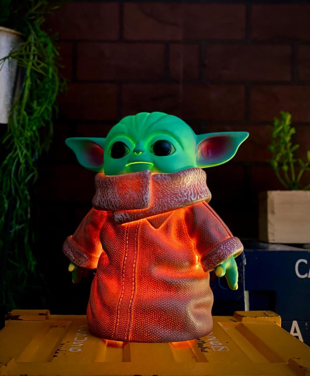 Luminária 3D Home Ornamento Geek Grogu Baby Yoda: O Mandaloriano The Mandalorian Star Wars