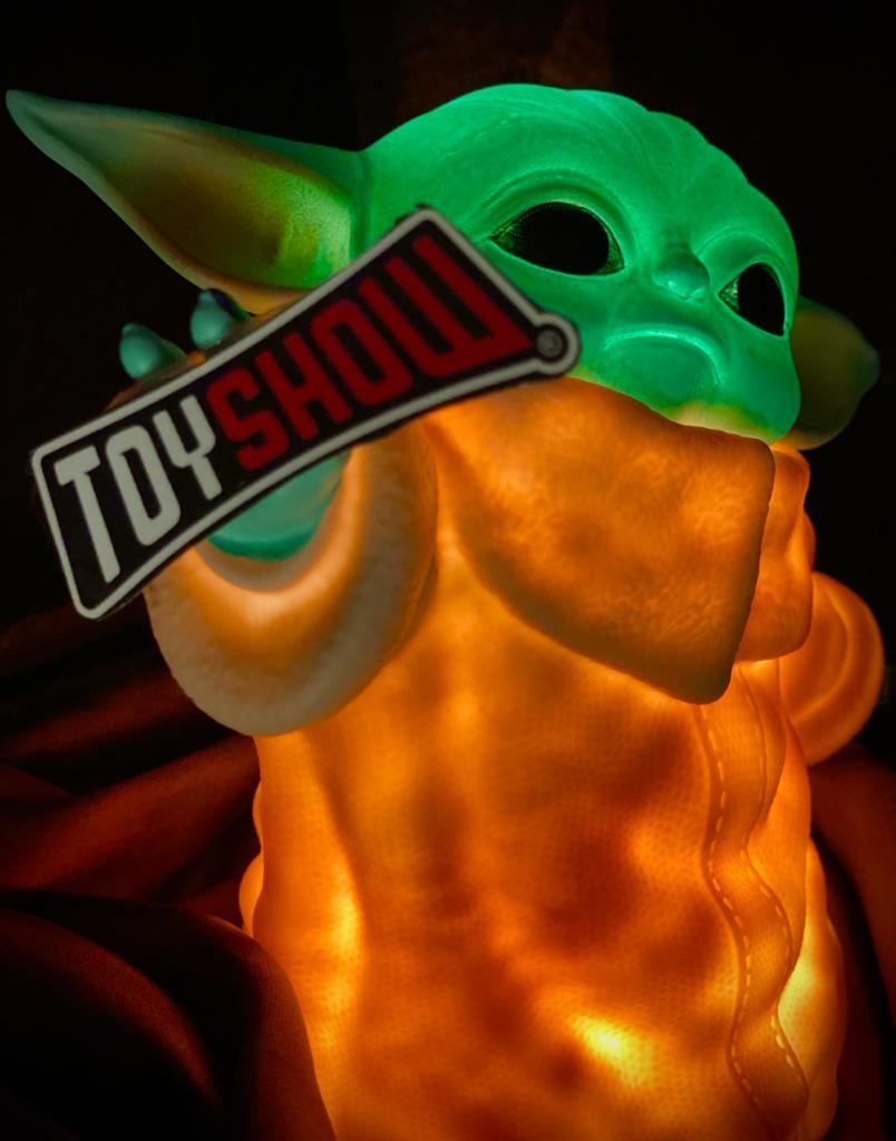 Luminária 3D Home Ornamento Geek Grogu Baby Yoda Usando a Força: O Mandaloriano The Mandalorian Star Wars - EV
