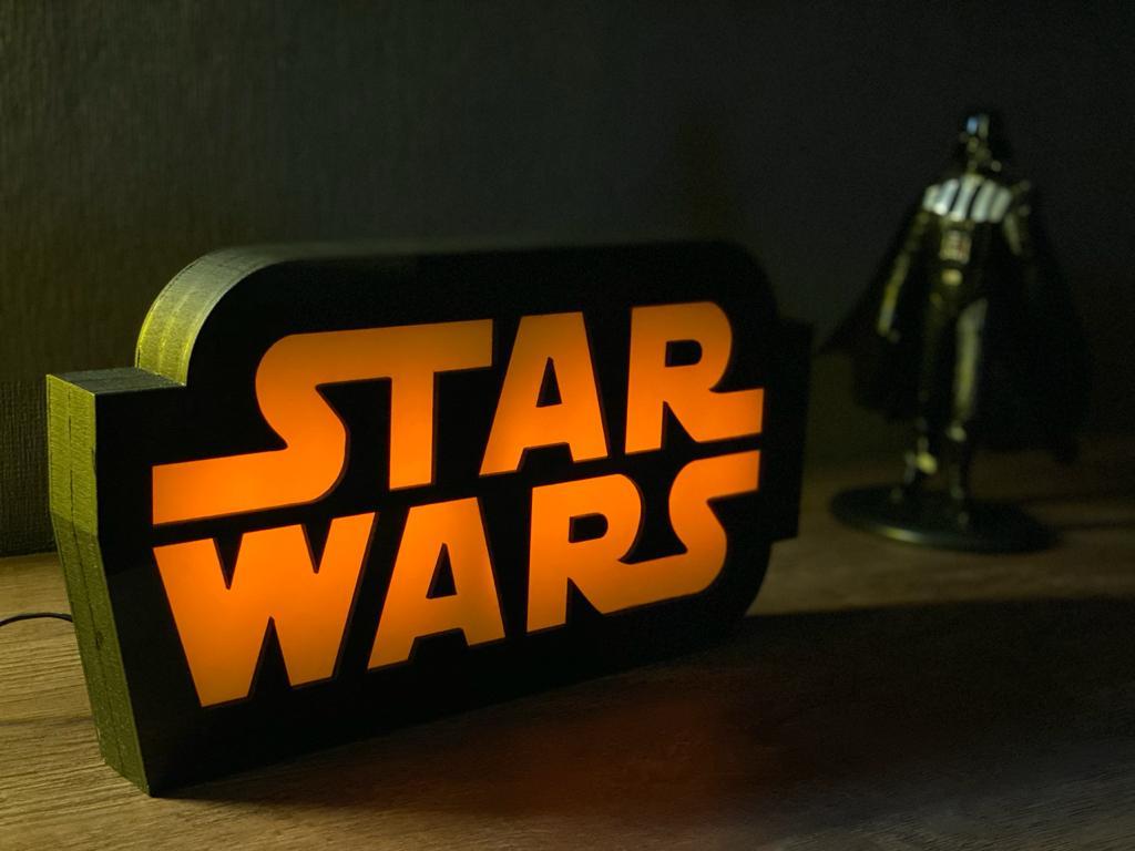 Luminária 3D Logo: Star Wars