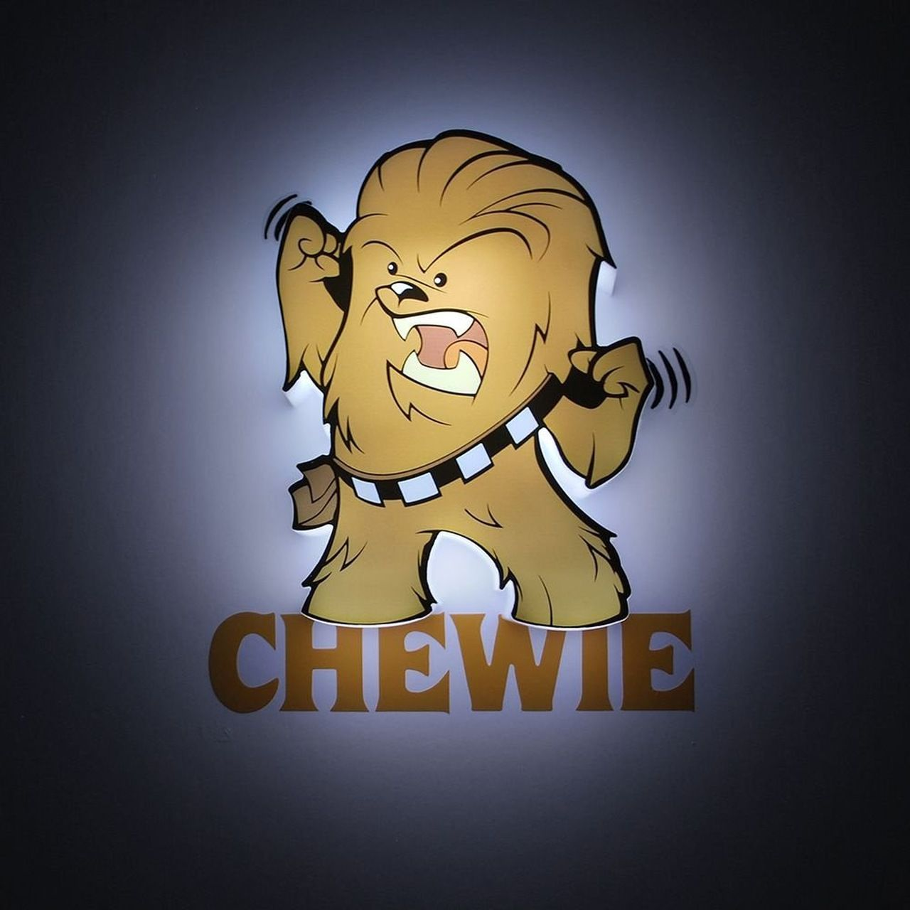Luminária 3D Mini Chewbacca: Star Wars (Light FX)