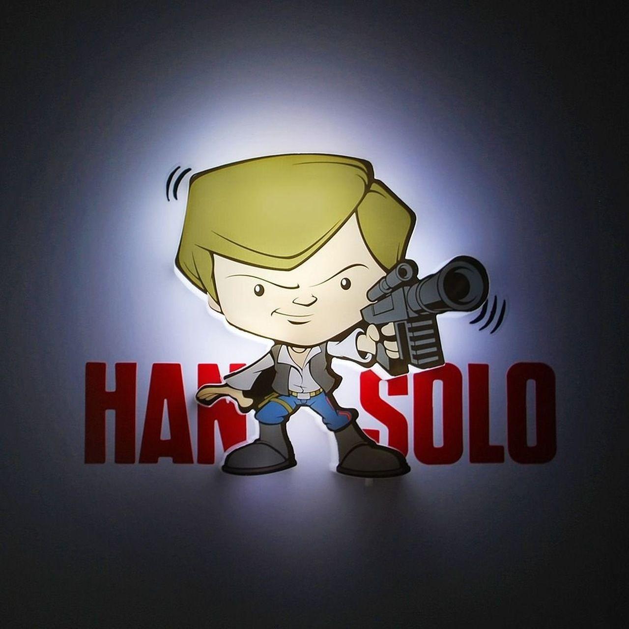 Luminária 3D Mini Han Solo: Star Wars (Light FX)
