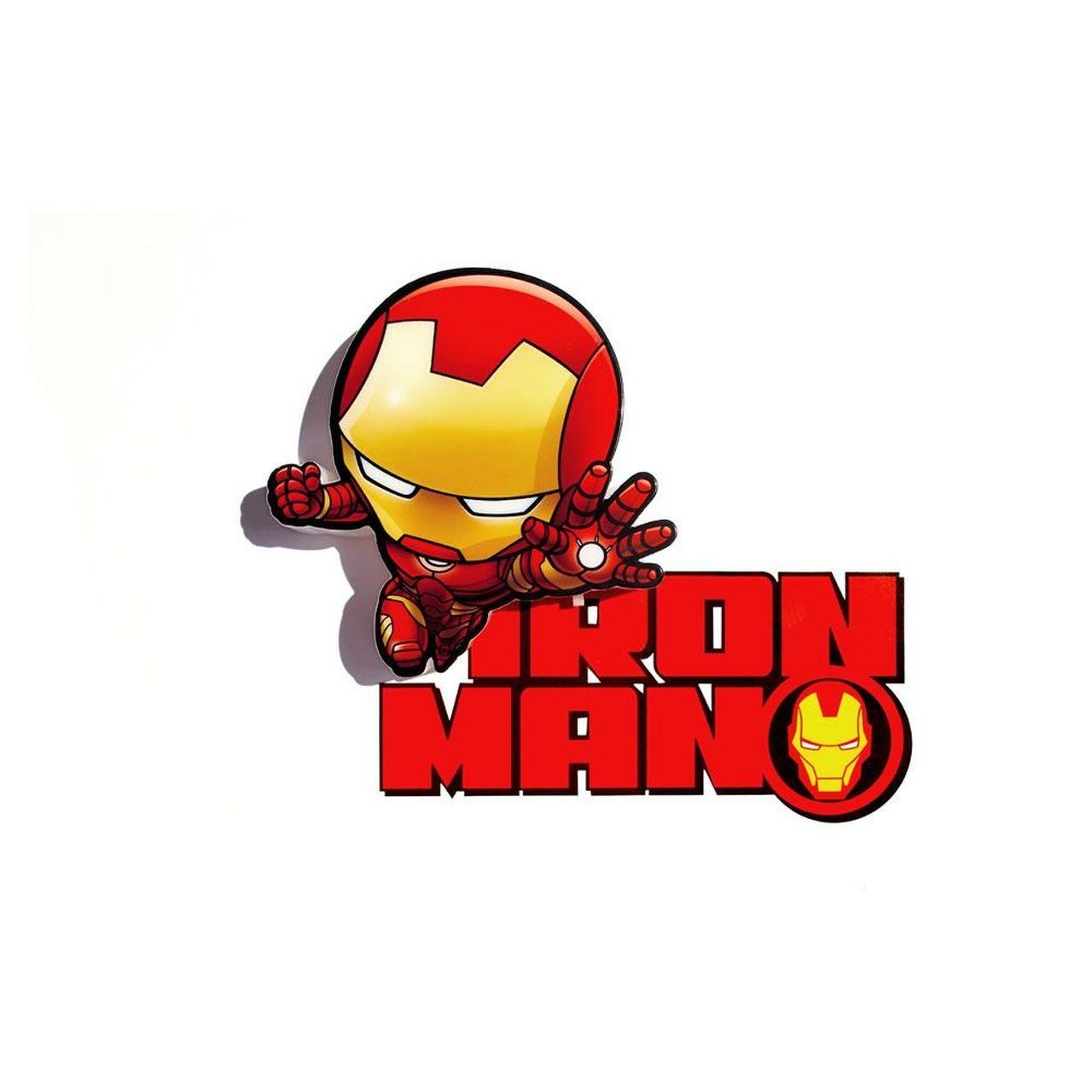 Luminária 3D Mini Homem de Ferro (Iron Man): Vingadores (Avengers) Marvel (Light FX)
