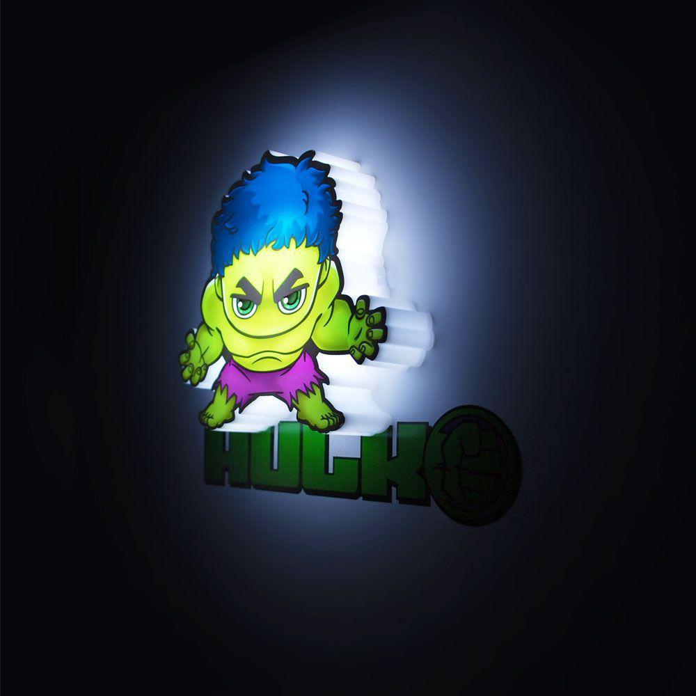 Luminária 3D Mini Hulk: Vingadores (Avengers) Marvel (Light FX) - CD