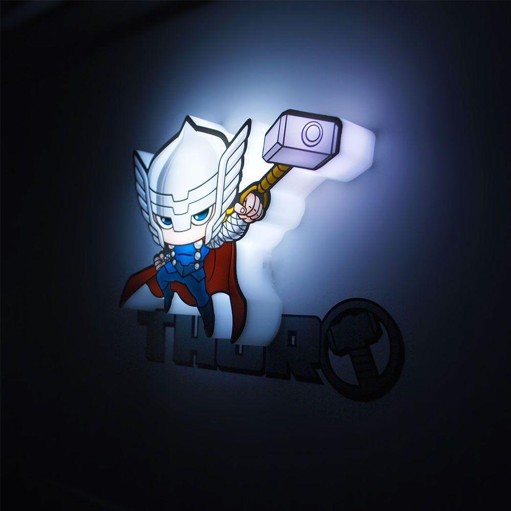 Luminária 3D Mini Thor: Vingadores (Avengers) Marvel (Light FX) - CD