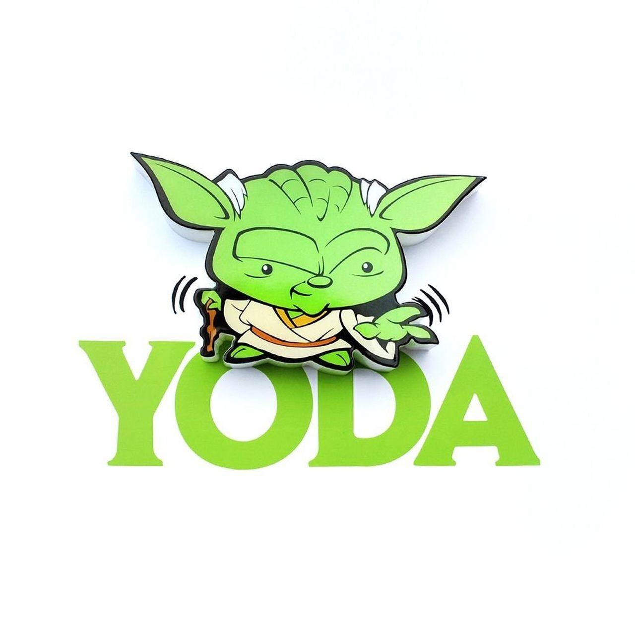 Luminária 3D Mini Yoda: Star Wars (Light FX)