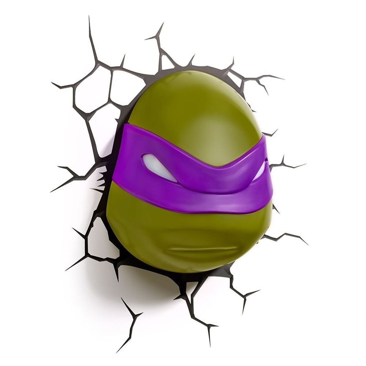 Luminária 3D Rosto do Donatello: As Tartarugas Ninja (Teenage Mutant Ninja Turtles) Light FX