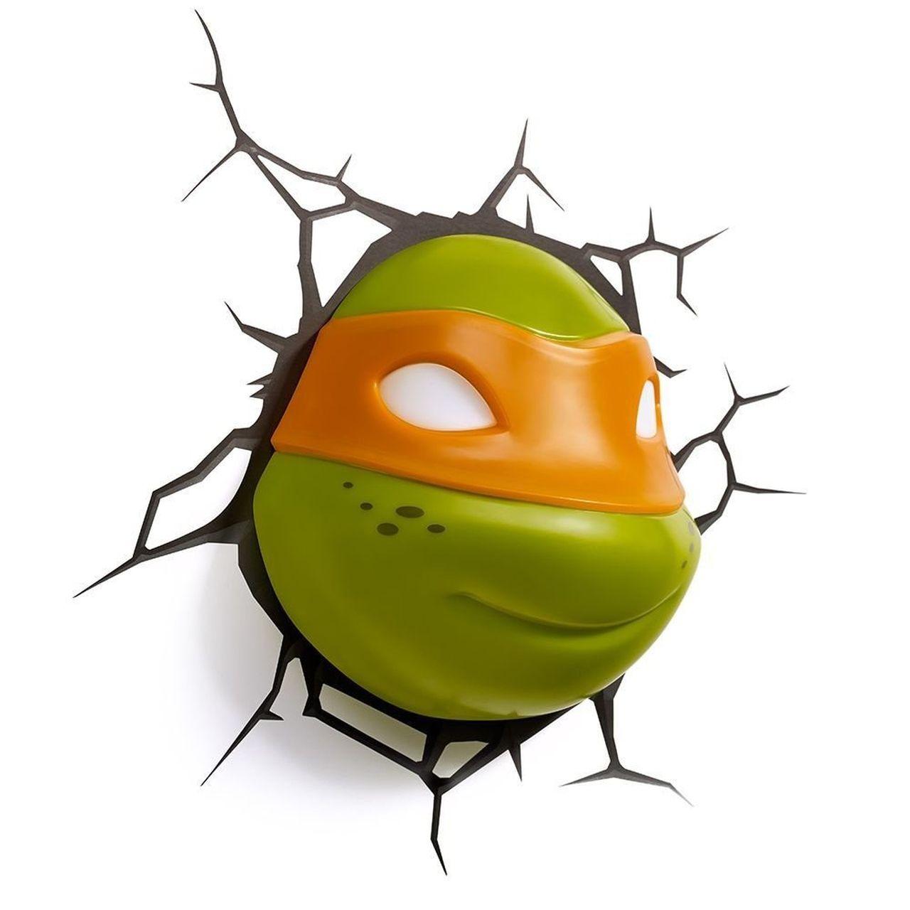 Luminária 3D Rosto do Michelangelo: As Tartarugas Ninja (Teenage Mutant Ninja Turtles) Light FX