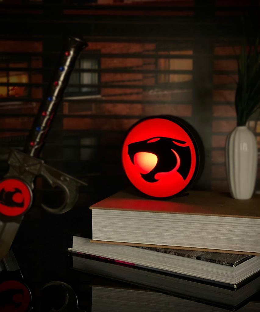 Luminária/Abajur 3D Logo ThunderCats - EV