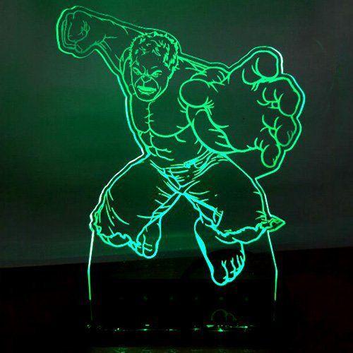 Luminária/Abajur Avengers Hulk