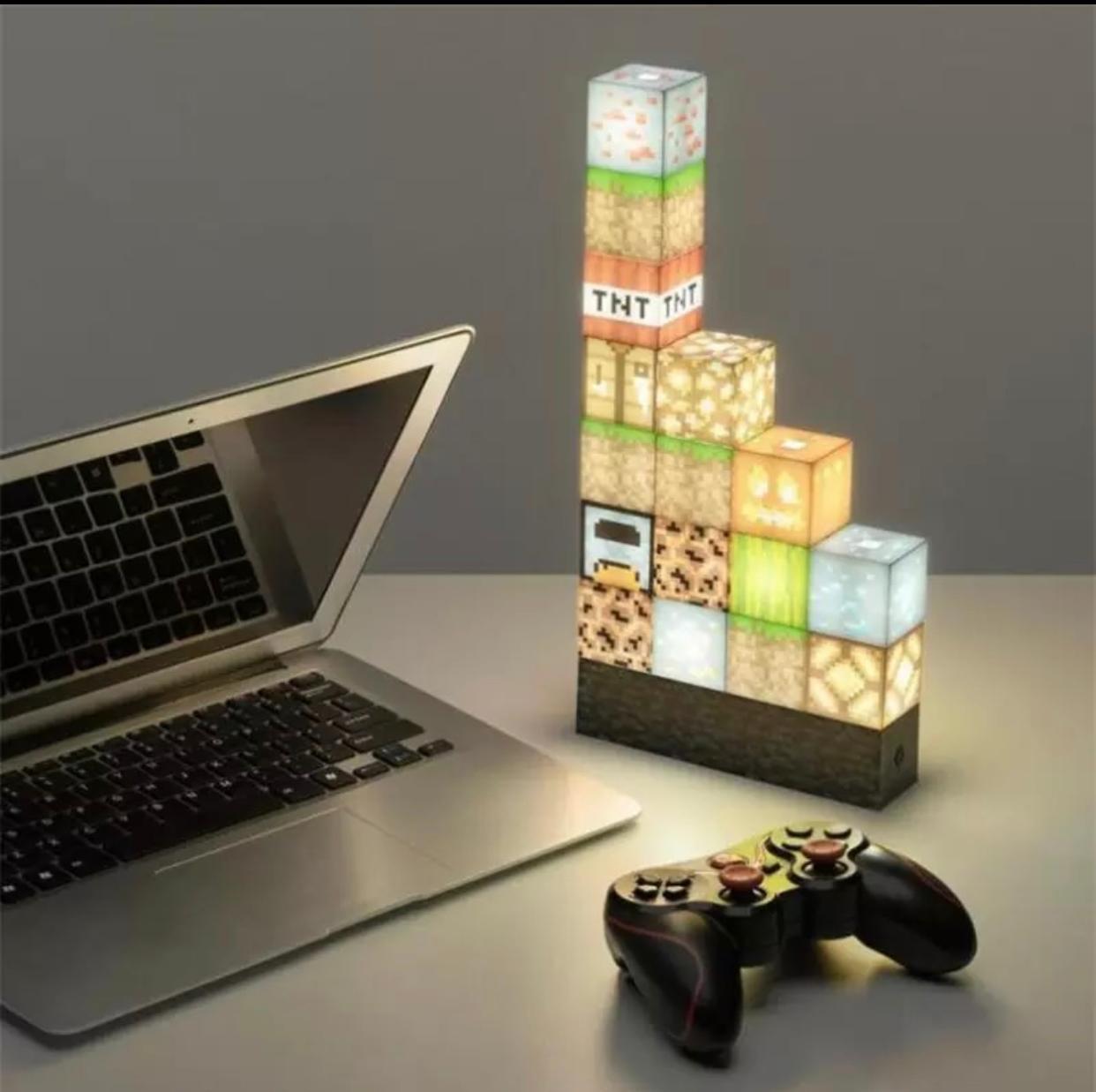 Luminária/Abajur Blocos Minecraft: Minecraft - MKP
