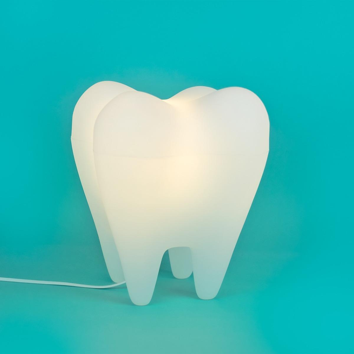 Luminária/Abajur Decorativa Dente  - Usare