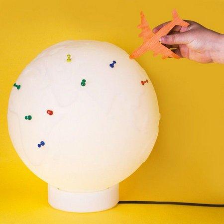 Luminária/Abajur Decorativa Globo Push Pin Natural - Usare