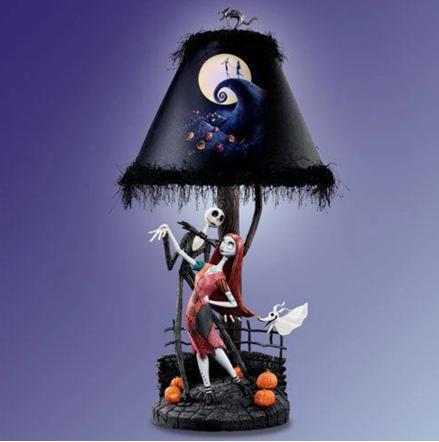 Luminária/Abajur Decorativa Jack Skellington e Sally: O Estranho Mundo de Jack The Nightmare Before Christmas - MKP