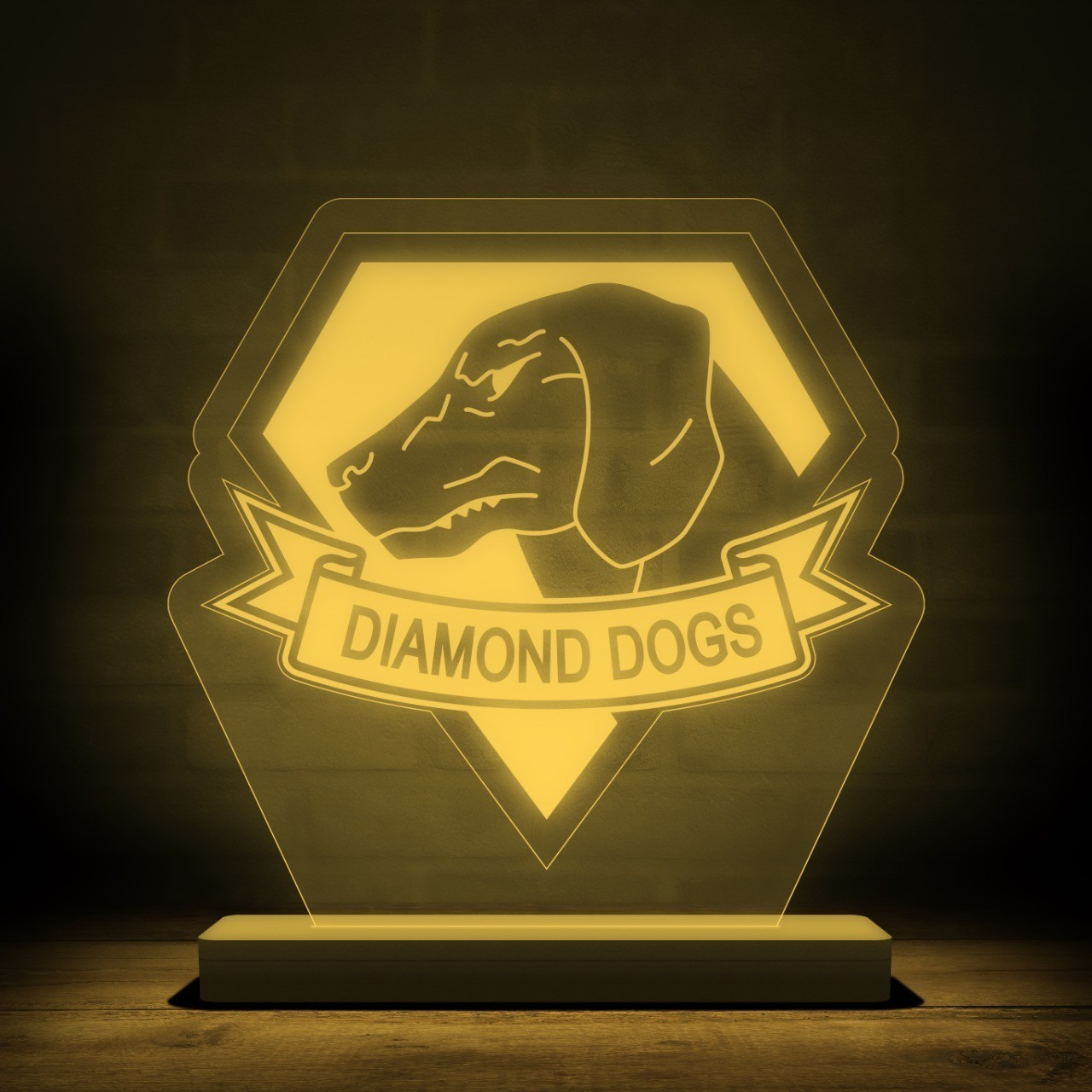 Luminária/Abajur Diamond Dogs - Metal Gear Solid - EV