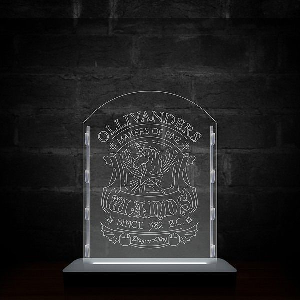 Luminária/Abajur Estande Para Varinhas (Ollivanders): Harry Potter
