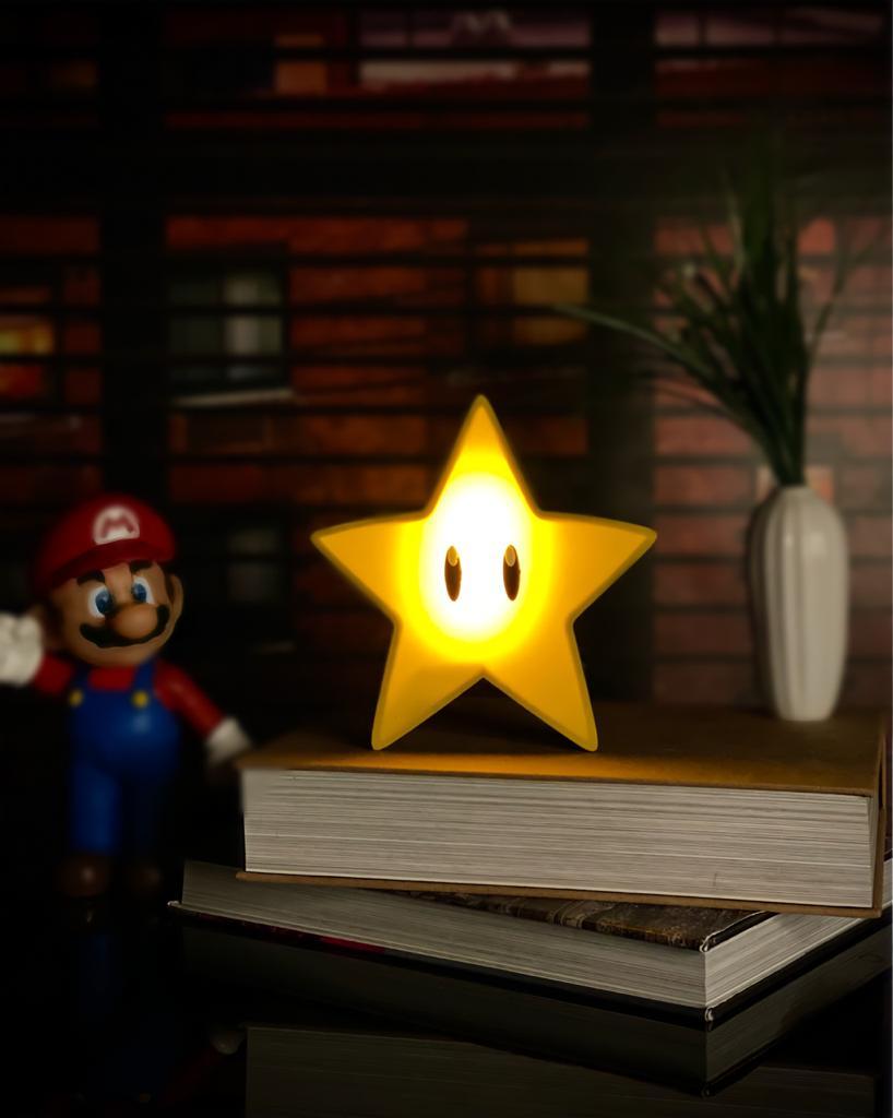 Luminária/Abajur Estrela Mario