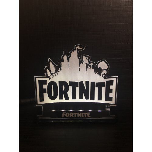 Luminária/Abajur Fortnite: Logo - EV