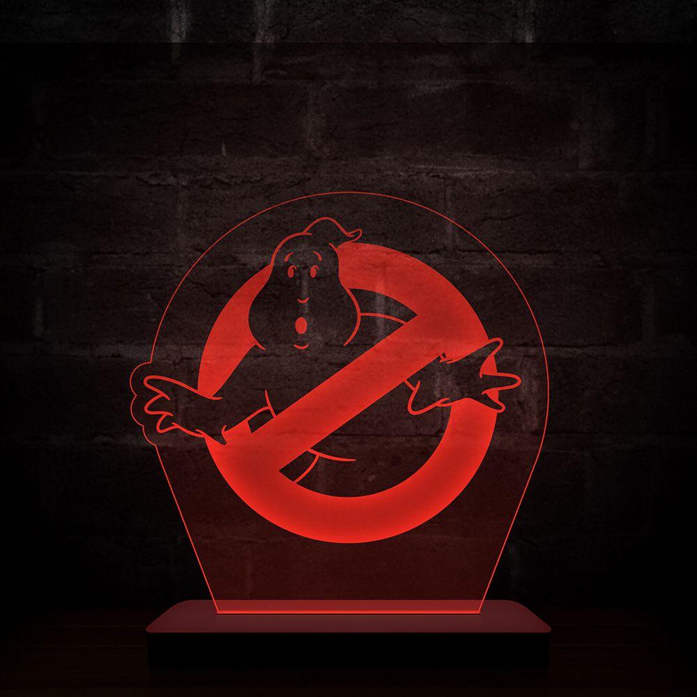 Luminária/Abajur Ghostbusters (Logo) - EV
