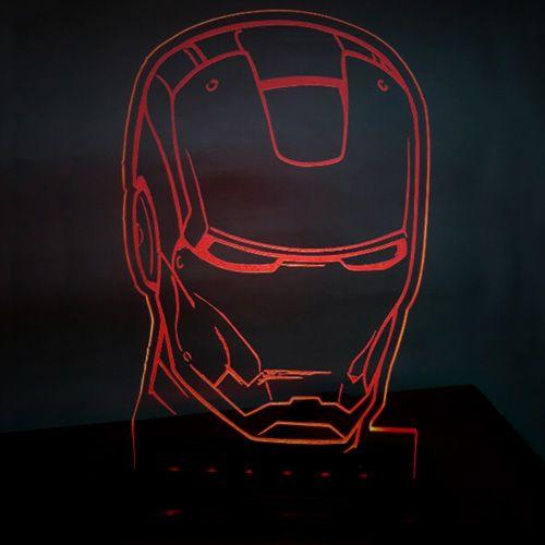 Luminária/Abajur Homem de Ferro (Iron Man) - EV