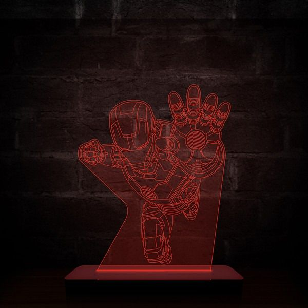 Luminária/Abajur Homem de Ferro (Iron Man) - Marvel