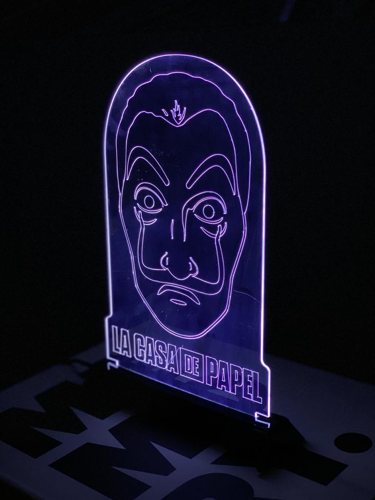 Luminária/Abajur La Casa de Papel