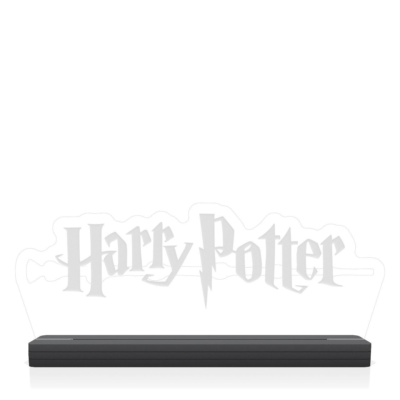 "Luminária/Abajur ""Logo Harry Potter''"