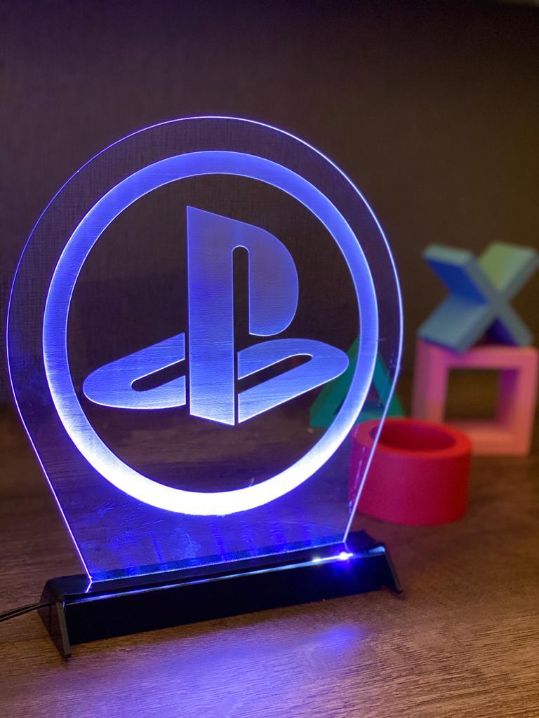 Luminária/Abajur Logo: Playstation - EV