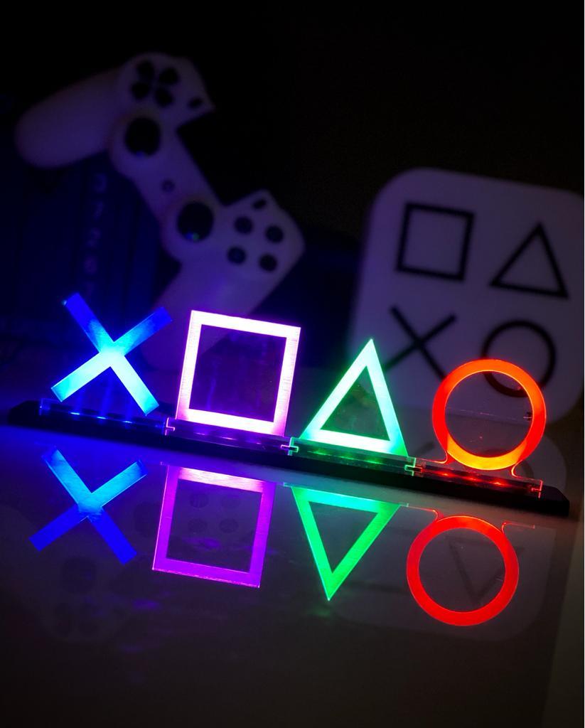 Luminária/Abajur Logo Playstation - EV