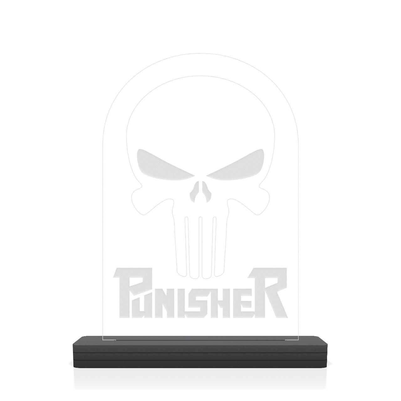 "Luminária/Abajur ""Logo Punisher"