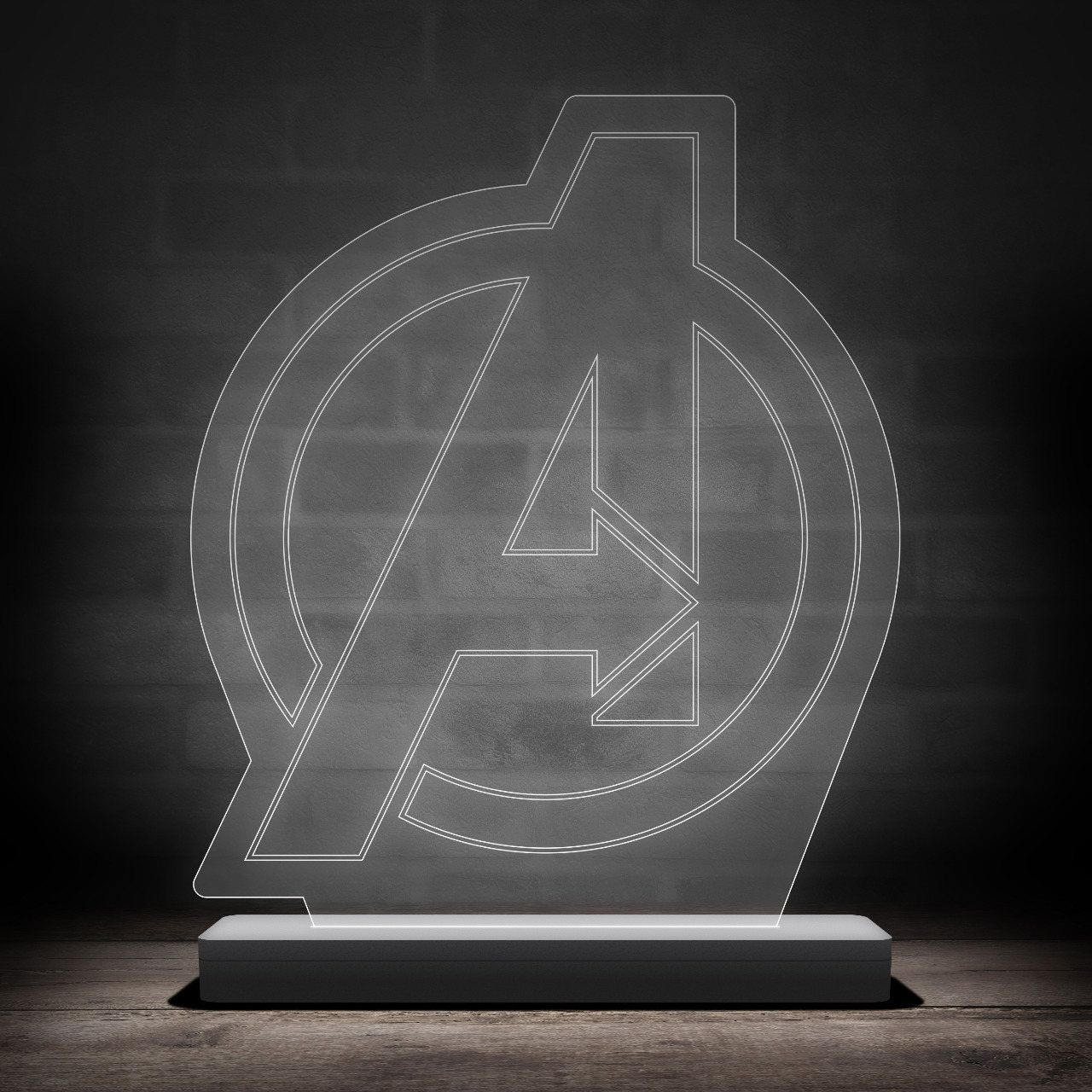 Luminária/Abajur Logo Vingadores (Avengers)
