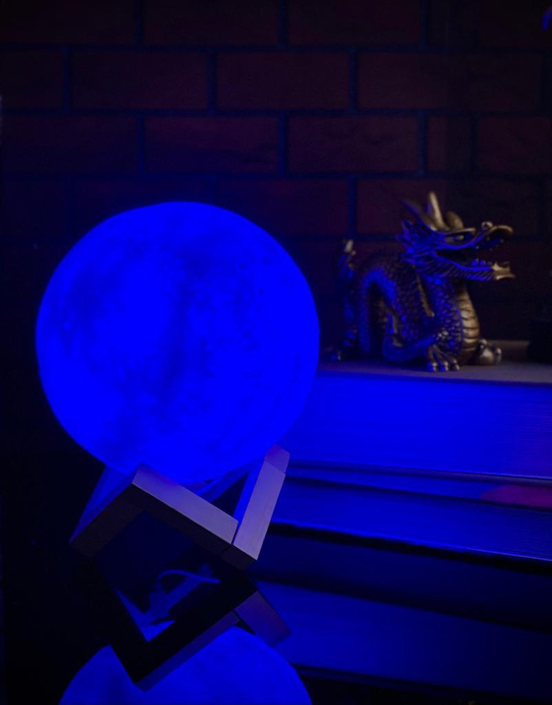 Luminária/Abajur Luz da Lua 3D - 15x15