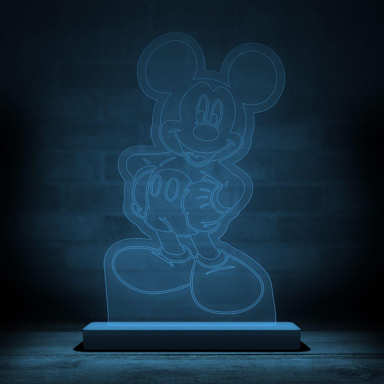 Luminária/Abajur Mickey Mouse: Disney - EV