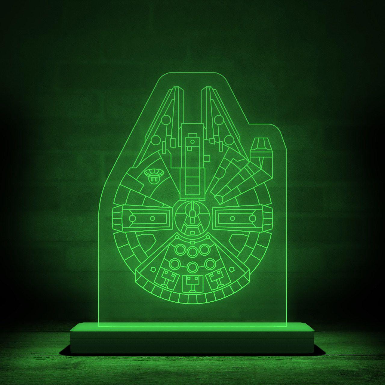 Luminária/Abajur Millennium Falcon: Star Wars - EV