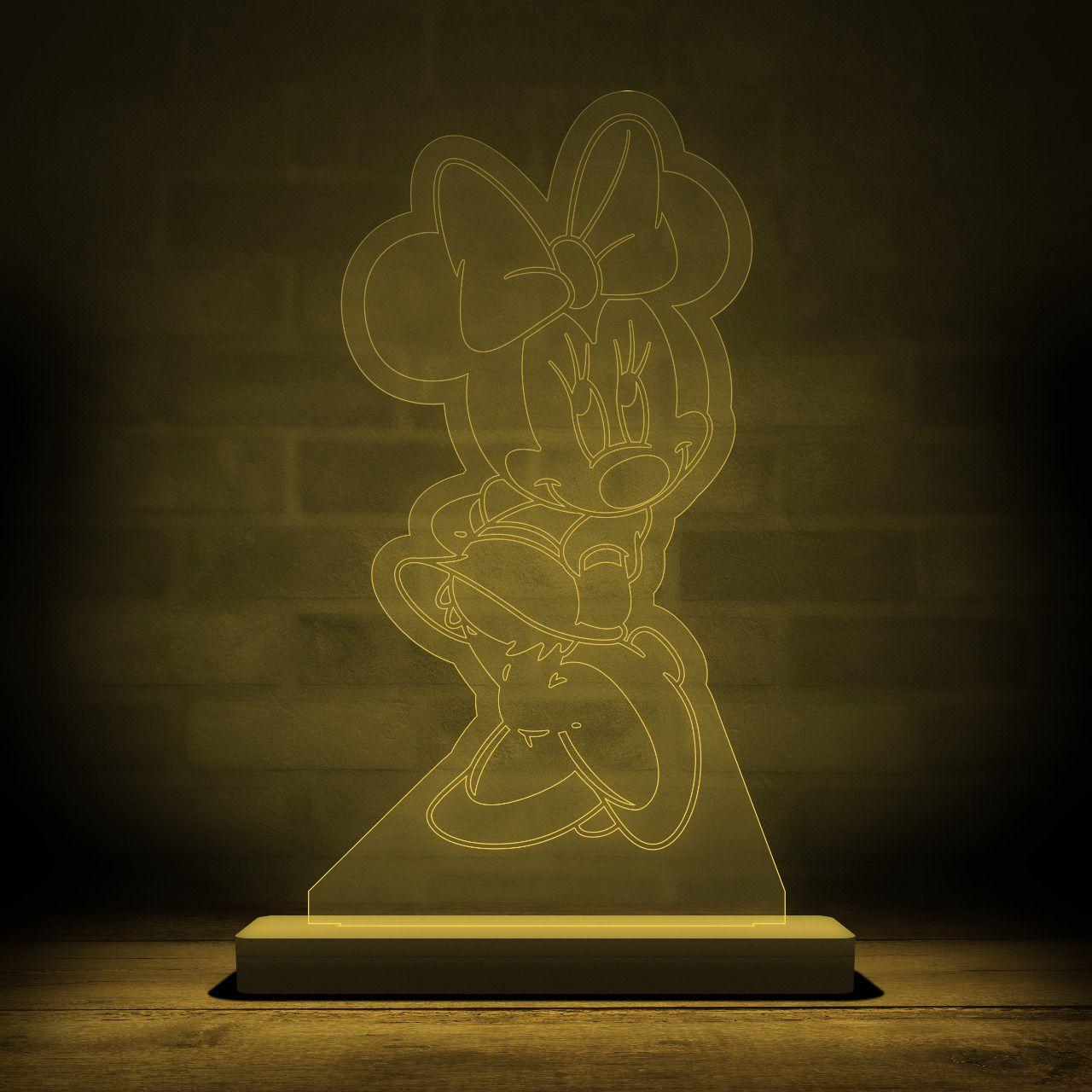 Luminária/Abajur Minnie Mouse: Disney