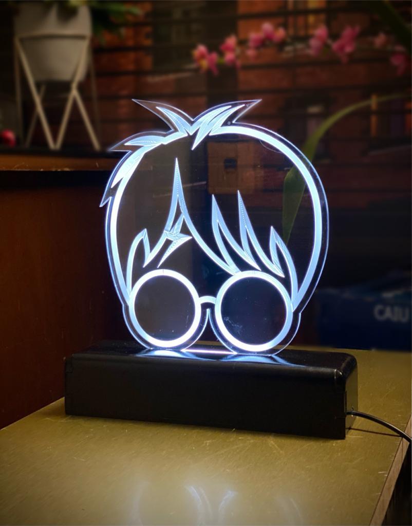 Luminária/Abajur Óculos Bruxo Harry Potter