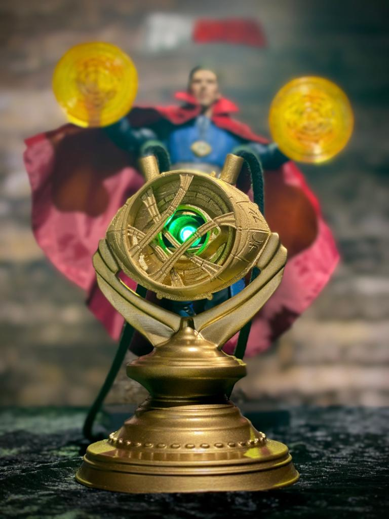 Luminária/Abajur Olho de Agamotto: Doutor Estranho Marvel - Fanatic Studio - EV