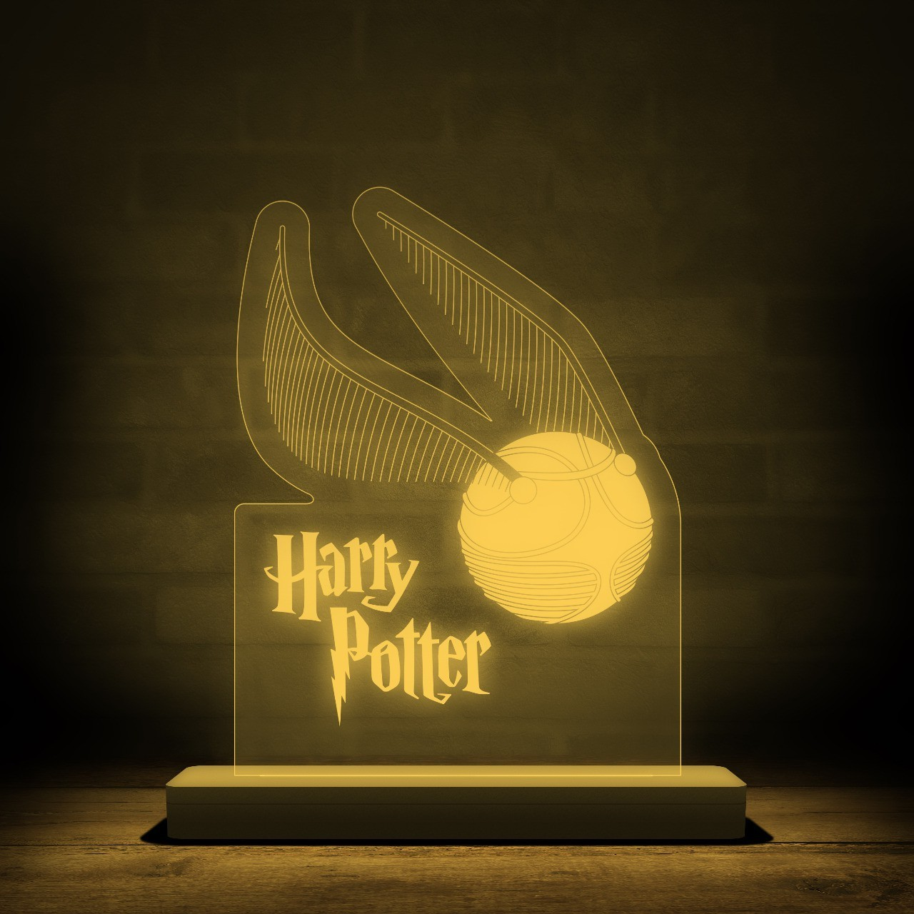 Luminária/Abajur Pomo de Ouro: Harry Potter