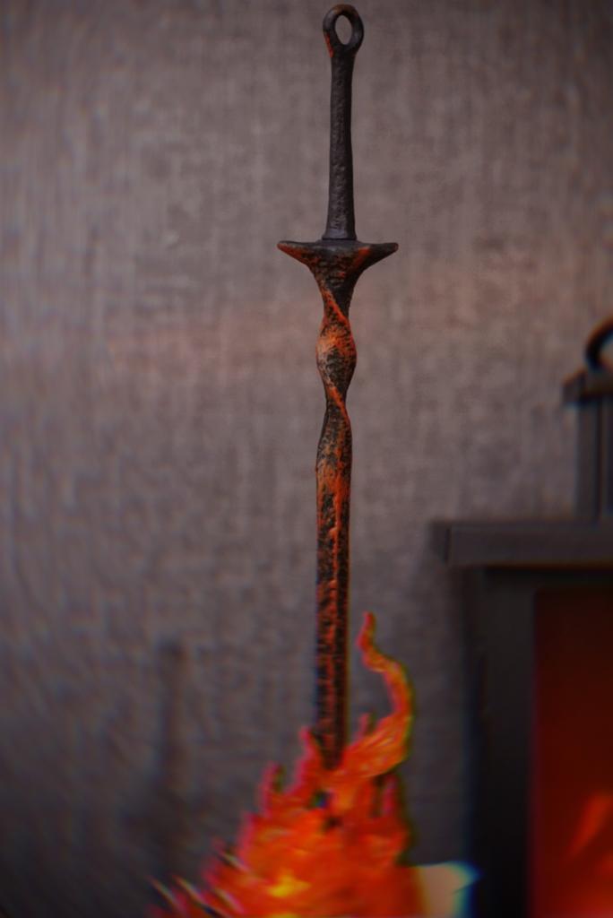 Luminária/Abajur Réplica Fogueira Bonfire Lite: Dark Souls Led RGB Escala 1/6