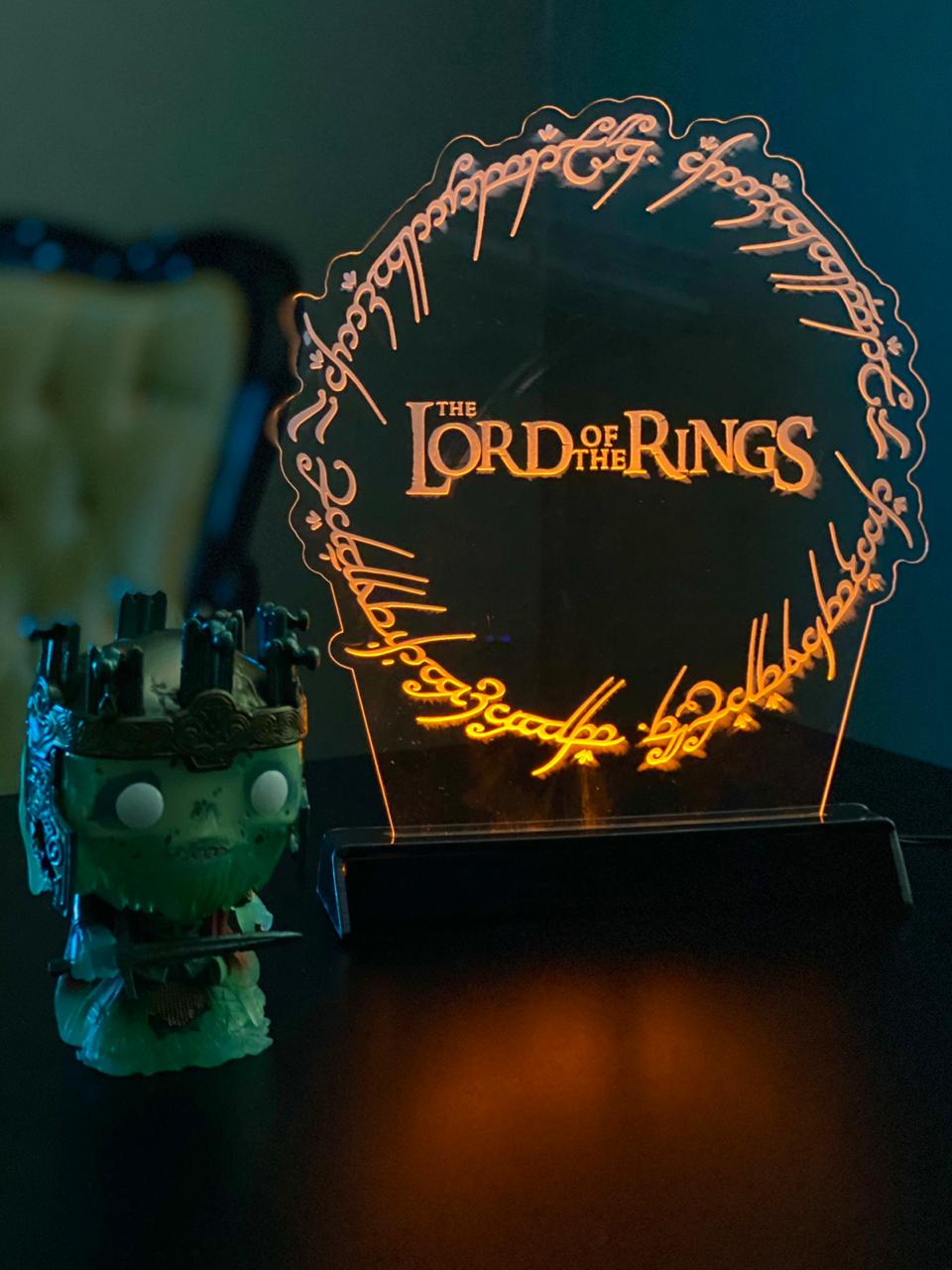 Luminária/Abajur: Senhor dos Aneis: The Lord Of The Rings