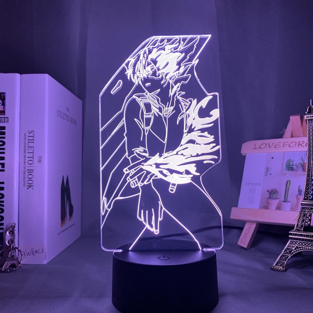 Luminária/Abajur Shoto Todoroki  Boku no Hero My Hero Academia 16 Cores com Controle - EVALI - Anime Mangá
