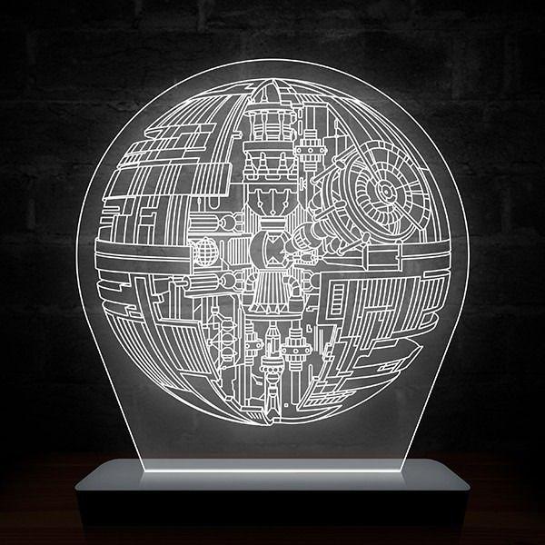 Luminária/Abajur Star Wars: Estrela da Morte
