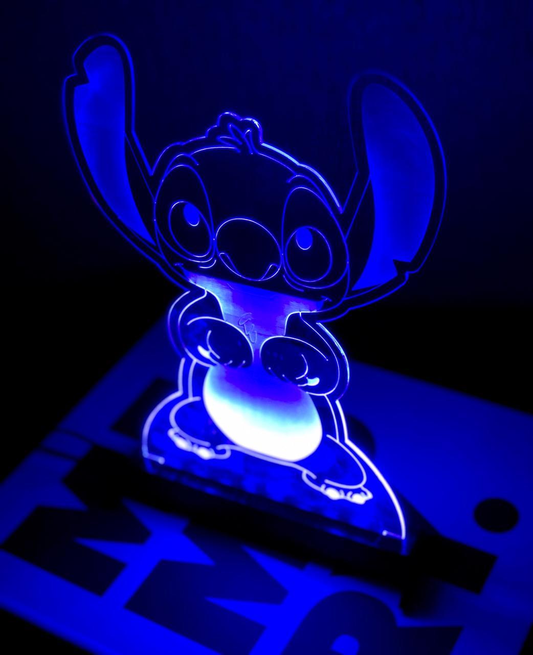Luminária/Abajur Stitch: Lilo & Stitch (Disney)