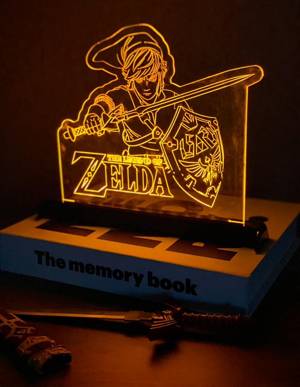 Luminária/Abajur The Legend of Zelda: Link