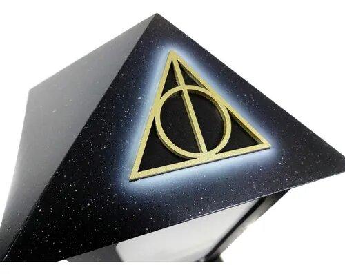 """Luminária/Abajur """"Torre 9 3/4 Relíquias da Morte"""": Harry Potter"""