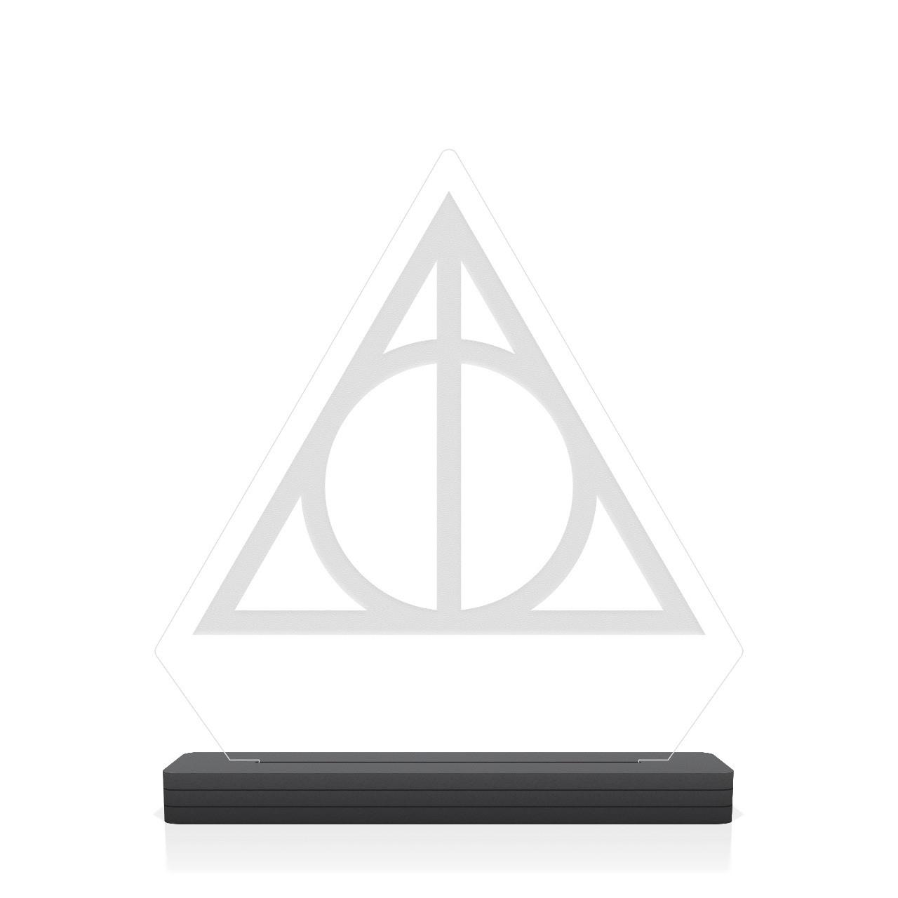 """Luminária/Abajur """"Triângulo'': Bruxo"""