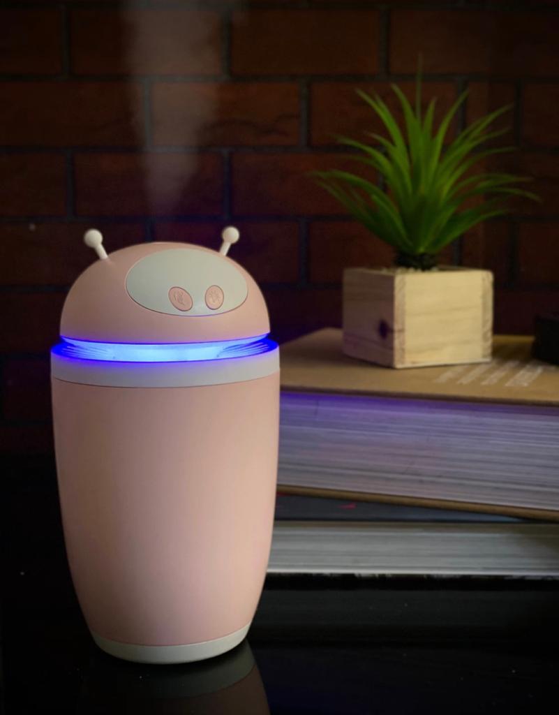 Luminária/Abajur Umidificador de Ar Astronauta - Rosa